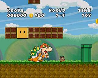 Somehow, the Goomba still hurts if walked into.