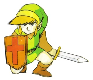 Artwork of Link created for the original The Legend of Zelda.