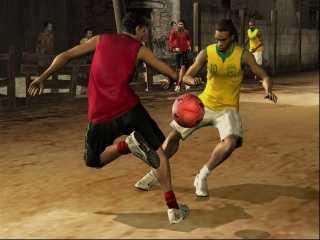 Christiano Ronaldo facing Ronaldinho.
