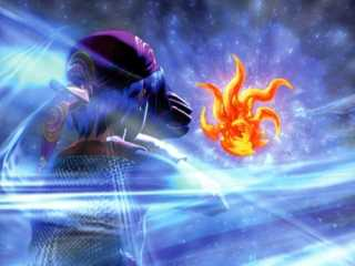 Serge and The Frozen Flame as they appear in Chrono Cross