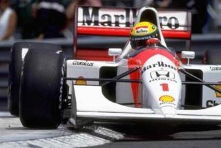 Senna's McLauren during a race.
