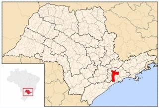 São Paulo's location within the state of São Paulo.