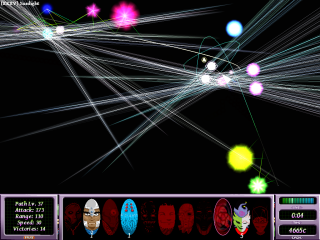 Path defense is a colorful experience.