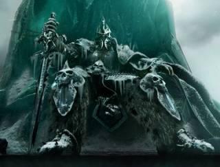 Arthas on his throne