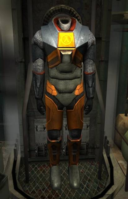 The Mark V HEV suit, as seen in Half-Life 2