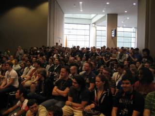 The giant crowd at the PAX 1UP Yours Live event was something to see.