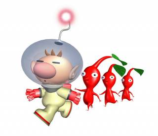 Olimar and Red Pikmin