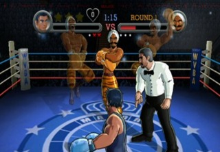 The referee originally appeared in the Punch-Out!! arcade game.