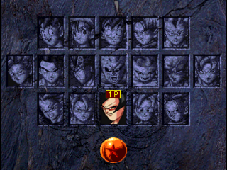 The character selection screen, showing all 17 playable characters.