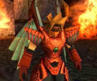 Dart as the Dragoon of the Red-eyed Dragon (Fire Element)