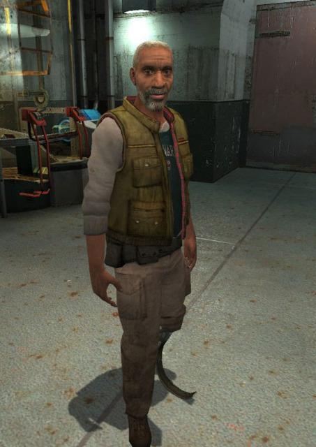 Eli Vance as he appears in Half-Life 2
