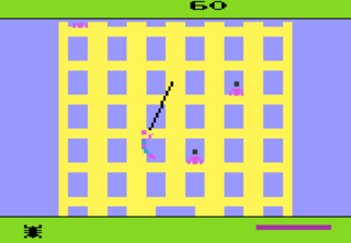 Spider-Man on the Atari 2600; one of the first Marvel games.