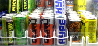 A variety of the smaller sized Energy Drinks