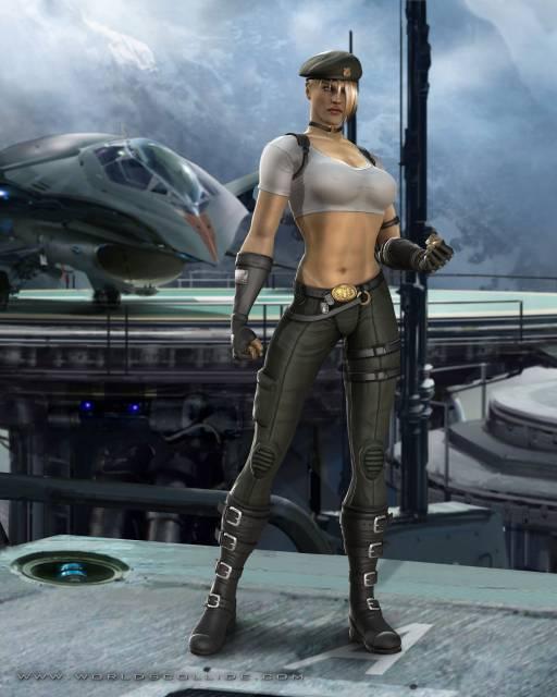 Sonya Blade in Mortal Kombat vs DC Universe