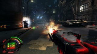 CLN in Assault Rifle mode (glows red after continuous fire).