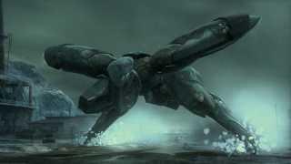 Liquid Ocelot piloting Metal Gear RAY