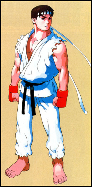 Ryu, a key character in the Street Fighter series