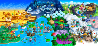 Mario and Co. have complete freedom to move about each world.