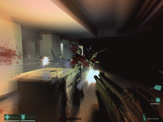 An example of the game's version of Bullet Time.