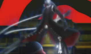 Yu's Persona, Izanagi is awakened for the first time.