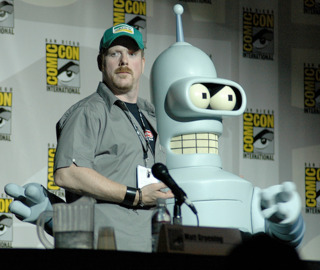 John DiMaggio with his most famous television character Bender.