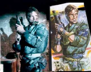 The scene from The Terminator that the boxart for the original Metal Gear was based on.