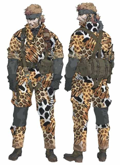 Animal camouflage, one of the camouflage uniforms received by non-lethally defeating a boss.