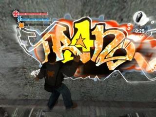 Trane creating some graffiti.