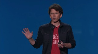 Todd Howard speaking at Bethesda's press conference during E3 2015