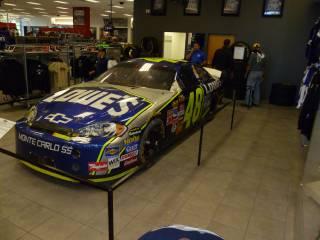 2006 Daytona 500 car on Display at Hendrick Motorsports Museum