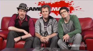 Game Damage cast (left to right): Yahtzee, Yug, and Matt