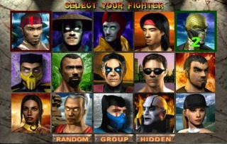 The fifteen playable fighters from the Arcade version.