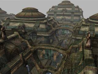 An early rendering of Vivec...