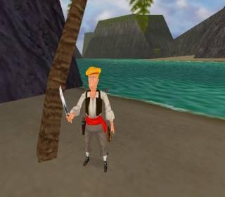 Guybrush Threepwood can be unlocked as a playable character via cheats.
