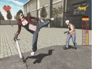 Travis can kick opponents to stun them, leaving them open to powerful wrestling moves.