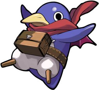 A Prinny sporting his new look