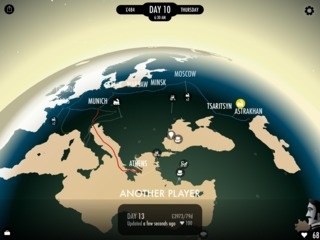 The progress of concurrent players is surfaced when viewing the world map.