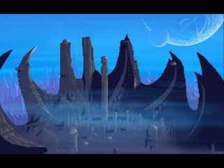 An alien city that serves as the game's primary setting
