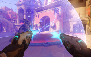 Overwatch uses bright, cartoonish art to communicate a lot of tactical information.