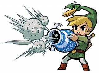 Link with the Gust Jar.