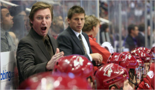 Gretzky was poor at controlling his emotions.