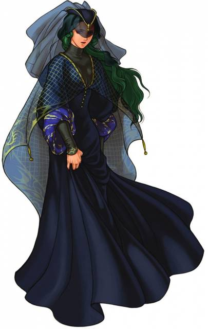 Almedha gave birth to a baby fathered by the beorc Ashnard, and as a result lost her powers.