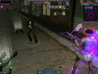 A combat scene from The Matrix Online.