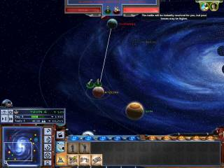 The most inventive part of the game is the planet screen. In it you upgrade, transport, and start battles.