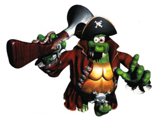 Kaptain K. Rool as featured in Diddy's Kong Quest