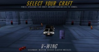 A Buick car model replaces the V-Wing model after a cheat code is used.