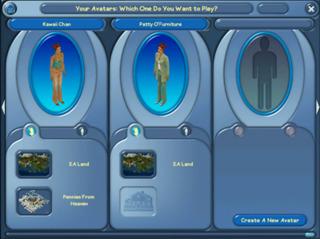 Avatar Select Screen