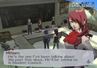 Mitsuru as the President of Student Council.