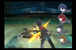 Junpei fighting Shadows in Persona 3.