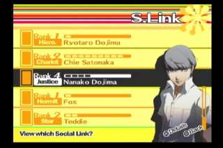 Checking your S. Links in Persona 4.